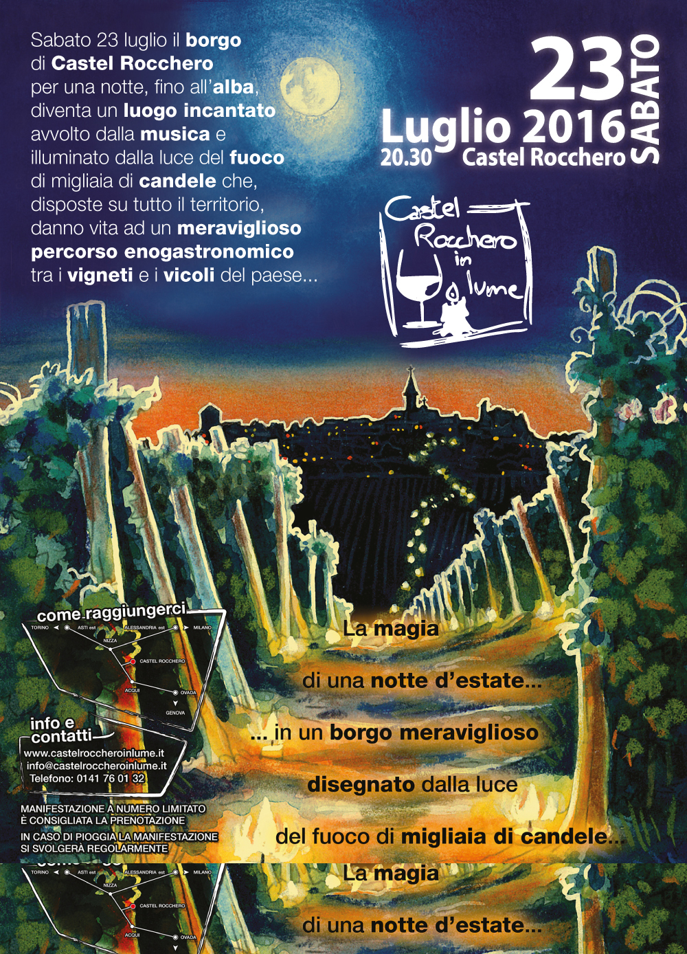 Castel Rocchero in Lume 2016